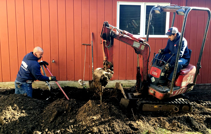 Replacing a septic line